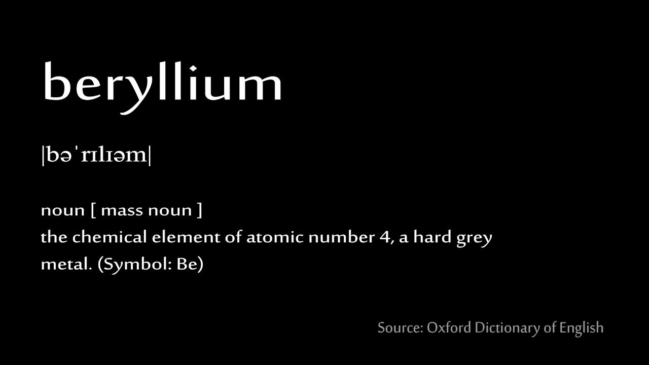 04 beryllium how to pronounce chemical elements periodic table 04 beryllium how to pronounce chemical elements periodic table buycottarizona Image collections