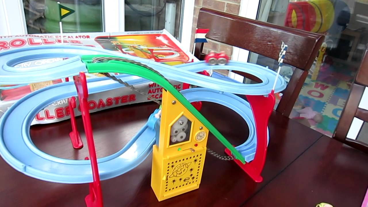 1960 39 s roller coaster toy battery powered fully working cosmo youtube. Black Bedroom Furniture Sets. Home Design Ideas