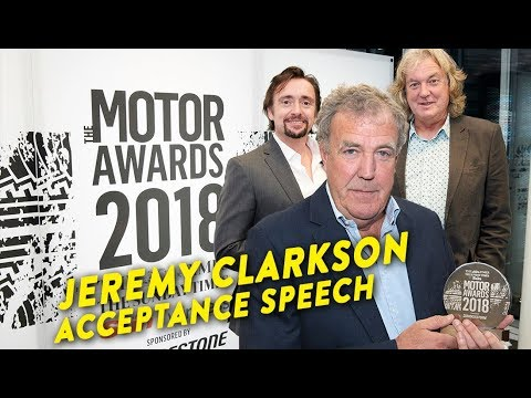 Jeremy Clarkson Acceptance Speech | Motoring Personality of the Year Award 🏆 |
