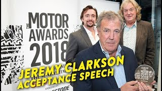 Jeremy Clarkson Acceptance Speech   Motoring Personality of the Year Award 🏆  