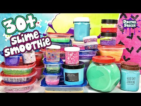 MIXING More Than 30 Jars of Slime In A Smoothie!