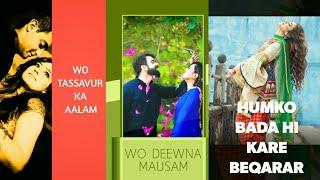 Wo Tassavur Ka Aalam | Old Song Full Screen Whatsapp Status | Female Version |