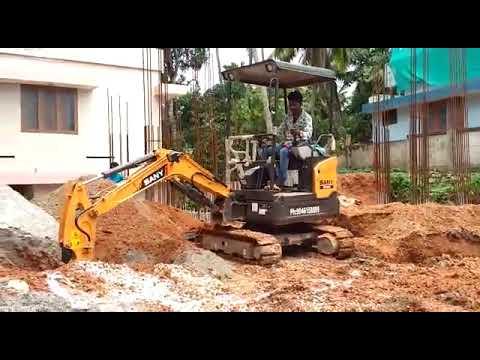 Sany SY20C mini excavator is Working
