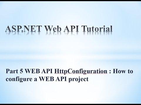 web api config class and httpconfiguration