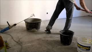 Монтаж наливного пола(На видео показан непрофессиональный монтаж наливного пола в одиночку с использованием самовыравнивающейс..., 2013-05-11T17:26:50.000Z)