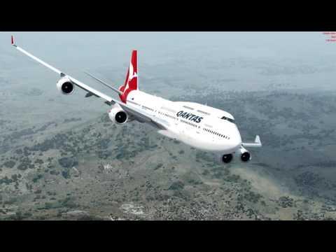 [P3D V4] Landing on Santiago (Qantas 747-400ER)