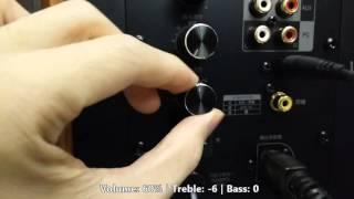 gene Edifier S1000 Speaker Treble Bass Combination Sound Test