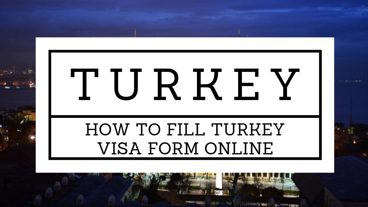 Turkey Visa Online Application Form Download Pdf File On Bookrumz Com