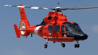 US Coast Guard Eurocopter HH-65 Dolphin [CG-6531] Startup, Taxi, and Takeoff