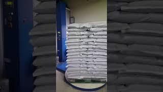 삼락 굼벵이 원료 포장 랩핑기 이용합니다.