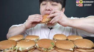 간단하게 햄버거 딱 10개만 맛있게 먹을게요 리얼사운드 먹방 REAL SOUND MUKBANG ASMR SOCIAL EATING