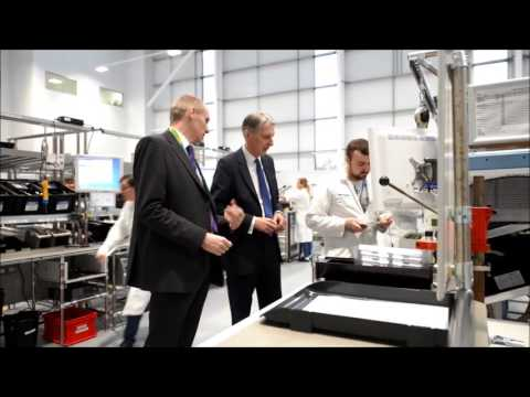 Philip Hammond visits Stafford's General Electric