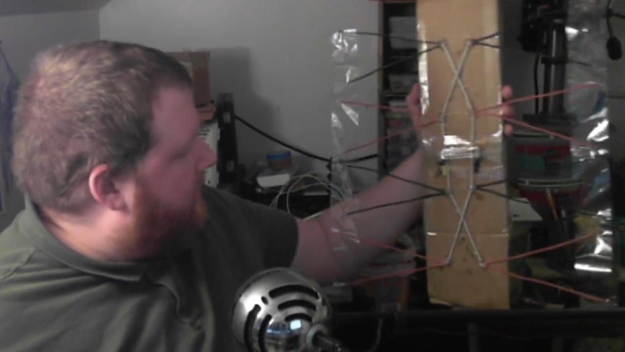 Building a Digital TV Antenna and a matching Balun from scrap