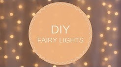 SIMPLE & AFFORDABLE || DIY FAIRY LIGHTS with BACKDROP STAND 💡