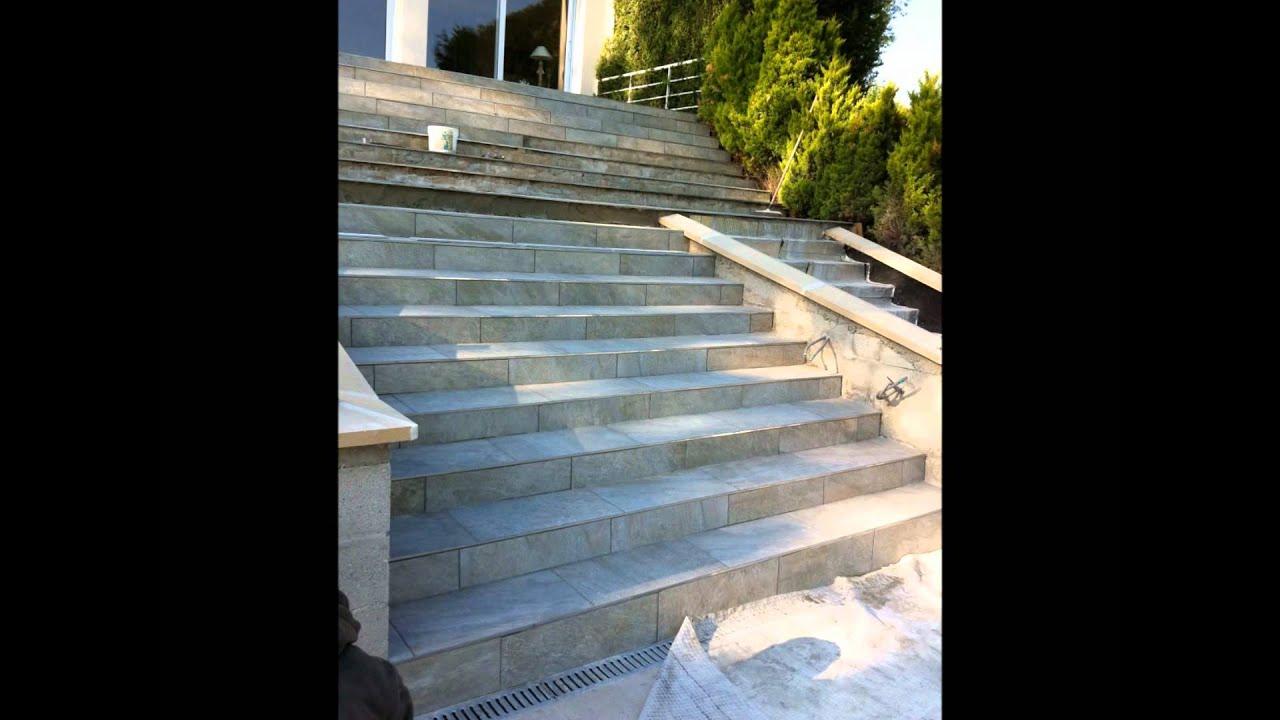 Video r novation terrasse et escalier youtube for Renovation escalier exterieur