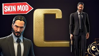 I'M MODDING THE JOHN WICK SKIN AND I'M WINNING WITH IT! (Fortnite: Battle Royale)