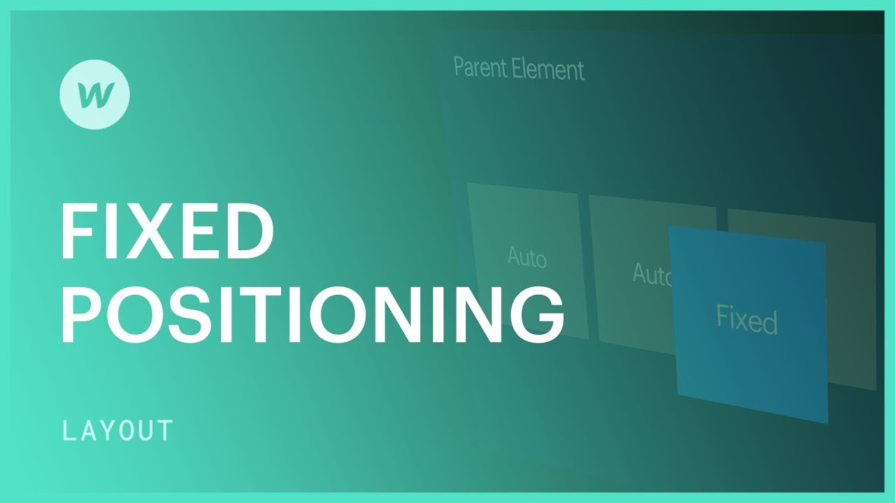 Fixed position - Webflow CSS tutorial (using the Old UI)
