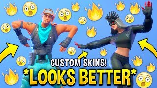 These Fortnite Custom Skins Look Better Than The Original..! (Male Snorkel Ops, Evil Sunbird)