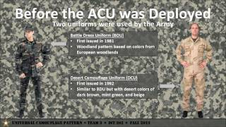 Universal Camouflage Patter - Team 03, IST 302, Fall 2013 PSU