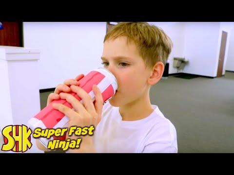SUPER FAST NINJA! Obstacle Warrior Kids Course Race SuperHeroKids Skits In Real Life