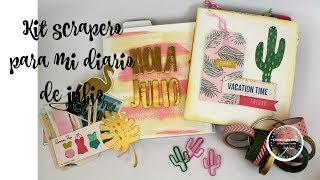 Llenamos mi diario de julio con un kit scrapero
