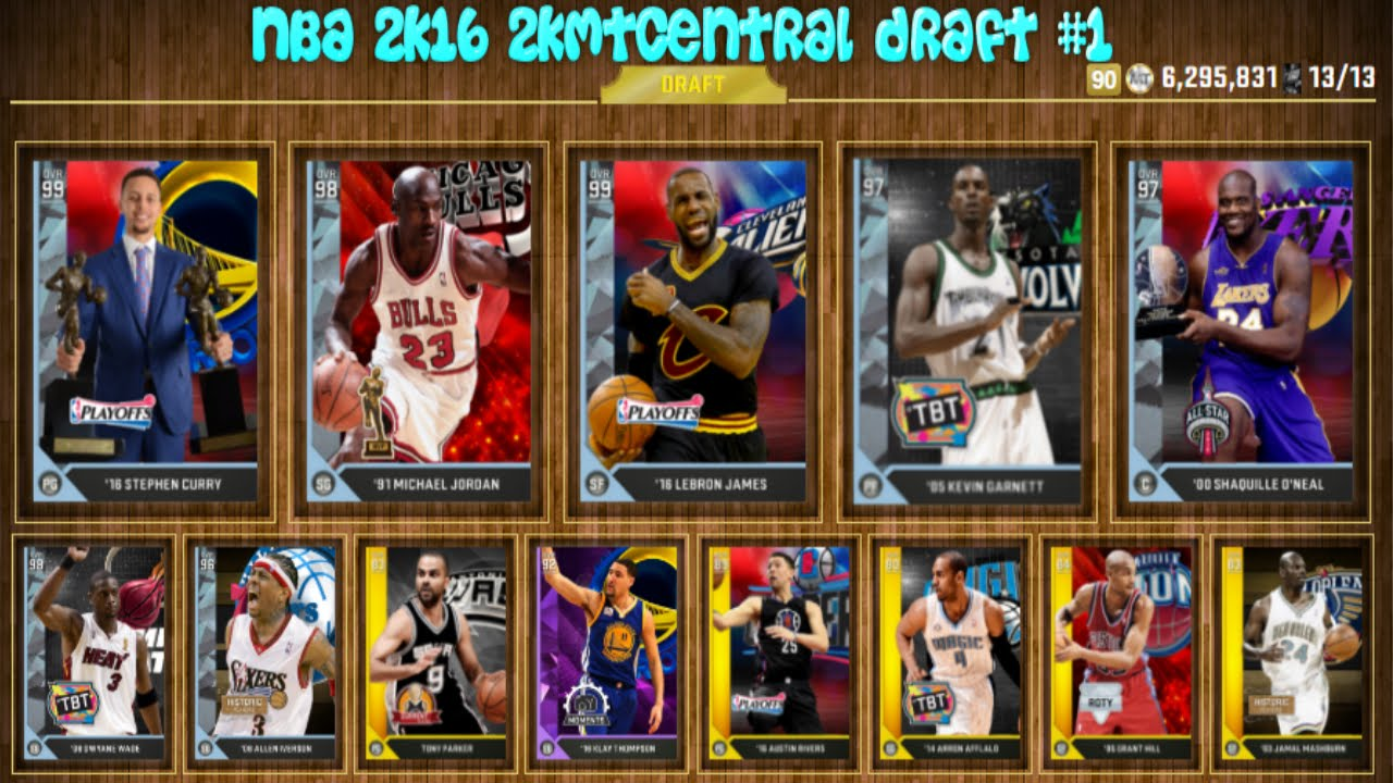NBA 2K16 2KMTCENTRAL DRAFT - 90 RATED DRAFT?!?! #1 - YouTube