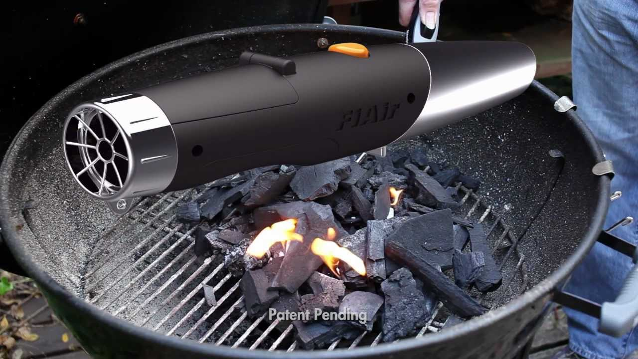 Fiair Blower Gets Charcoal Grill Ready To Cook In 8 12