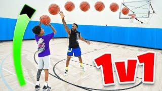 1v1 Basketball Against 13 Year Old Miles Brown! *Flight's Kryptonite*