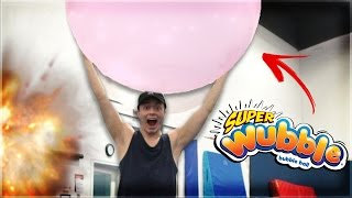 EXPLODING SUPER WUBBLE BUBBLE WITH FLIPS!! (IMPOSSIBLE)