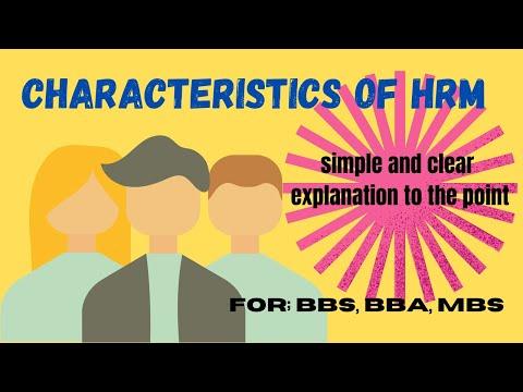 Characteristics of Human Resource Management, in nepali part 4