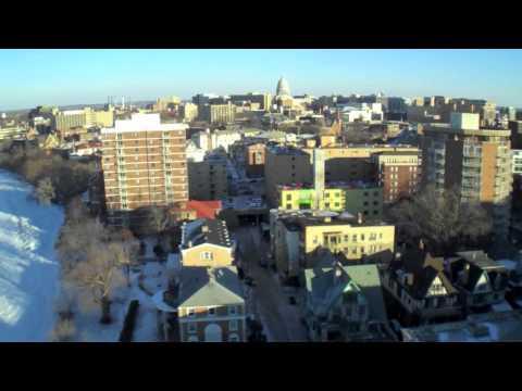 kite aerial video & stills over Madison, WI (1/6/11)