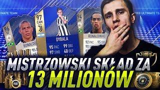 MISTRZOWSKIE BUDOWANIE SKŁADU ZA 13 MILIONÓW COINSÓW! FIFA 18 ULTIMATE TEAM!