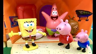Spongebob i Swinka Peppa Bajka po Polsku - Spongebob Kanciastoporty zaprasza do siebie