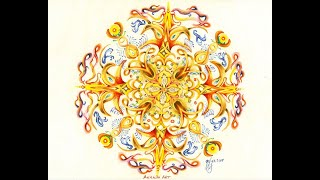 MANDALA -  My Ananda Art - How to draw Mandala