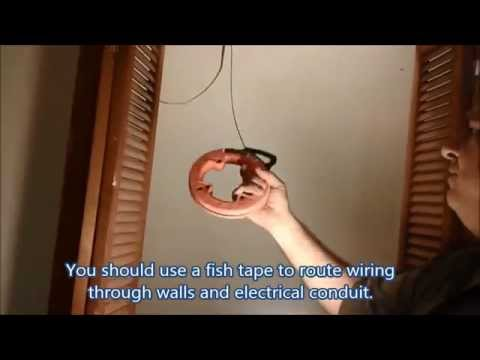 D.I.Y - Install  Run And  Fish Wires For Multiple Outlets On Exsiting Wall