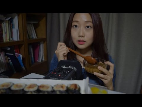 [한국어 ASMR] 스쿨푸드 김밥 잇팅 사운드 Kimbab Eating Sound