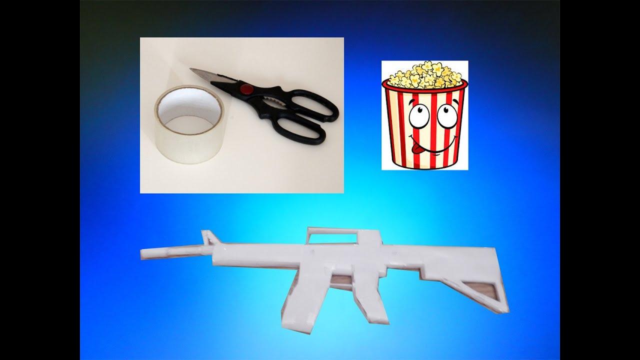Автомат игрушечный на пульках с треногой и глушителем М16 - YouTube