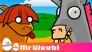 Shetland Pony : Featuring Amazing Horse : animated music video : MrWeebl