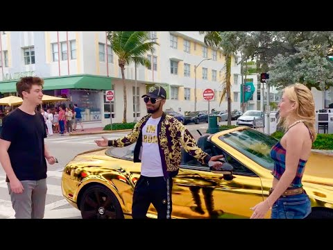 Reverse Gold Digger Prank Pt 2! Offering Boyfriends Keys To GOLD Bentley For Their Girl!