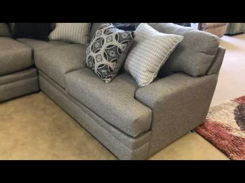 Le Chateau 8561 Simmons Beautyrest Sectional Sofa Grey Pocket coil seating