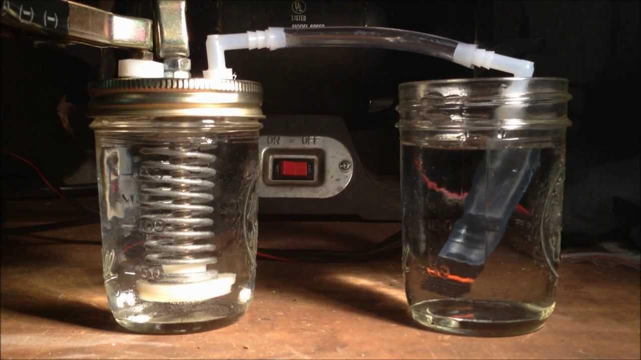 Home Hydrogen Generator >> HHO Generator - Wet Cell - YouTube