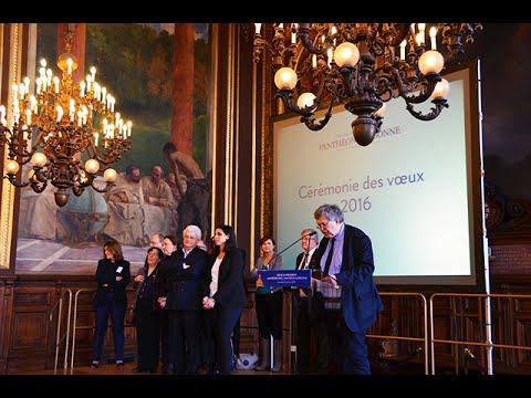 Vœux 2016 - Discours du président de l'université Paris 1 Panthéon-Sorbonne