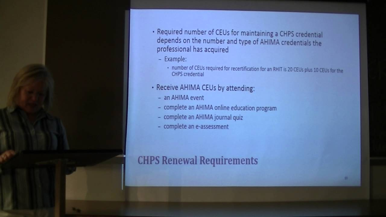 Marketing Project Credential difference between CDIP, CHPS, and CHDA ...