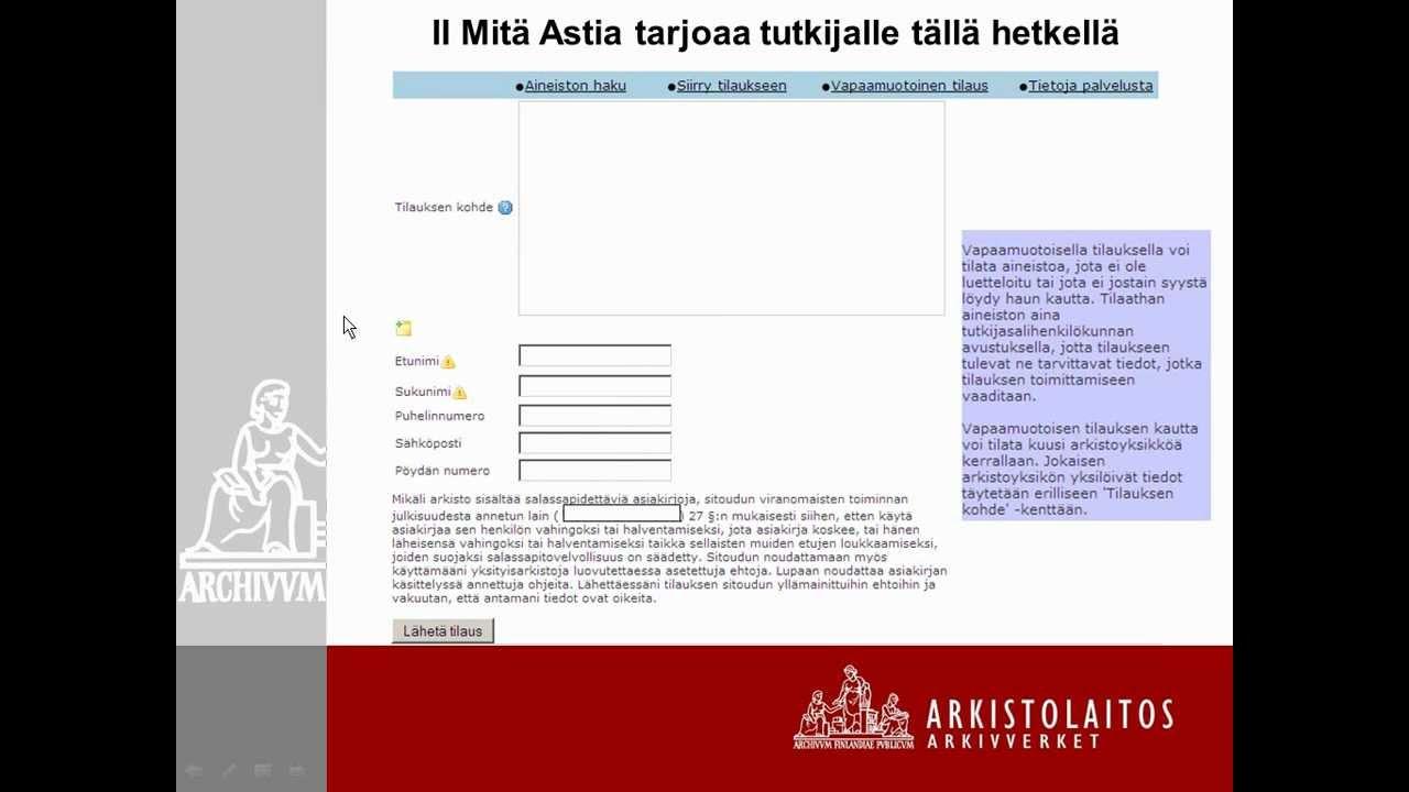 Astia Kansallisarkisto