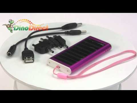 Solar Power USB Charger 1350mAh for iPod Cell Phone MP3 PDA  from Dinodirect.com