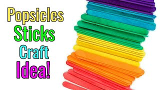 DIY Popsicles Stick CRAFT Idea! | Popsicle Craft Project
