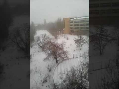 Snow fall in bishkek