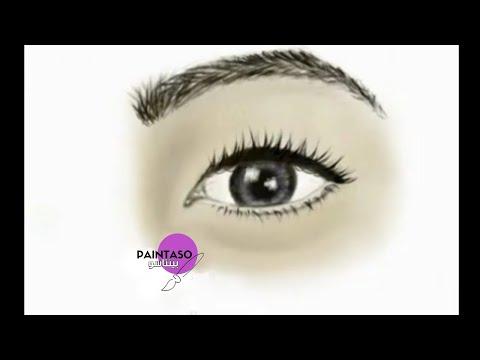 رسم عين ببرنامج Skechbook | Draw Eye