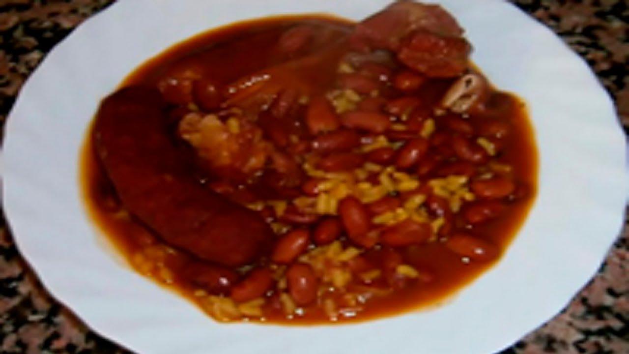 Receta potaje de alubias pintas con arroz en olla - Judias verdes en olla express ...