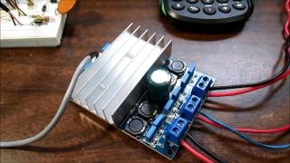 Class D TDA7492 stereo amplifier board test & review